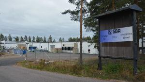 Industrihallen i Gebbelby där SBA Interior verkar.