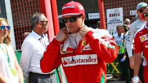 Kimi Räikkönen hade ett händelserikt veckoslut i Belgiens GP.