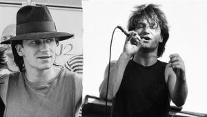 Bono backsteg och på scenen, Ruisrock 1982.