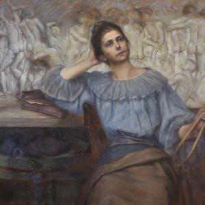 Porträtt av skulptören Sigrid af Forselles av Ida A. Fielitz.