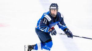 Anniina Rajahuhta spelar i Finlands ishockeylandslag.