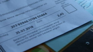 En elräkning med summan 2,45 euro