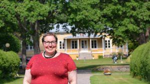Nina Wiklund vid Ekuddens camping
