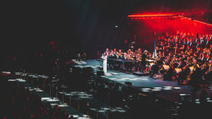 Helsingin kaupunginorkesteri Classical Trancelations -konsertissa.