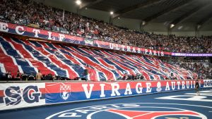 PSG-fanen under en match.