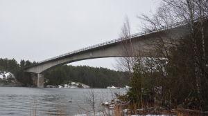 Bron över Norrströmmen i Nagu.