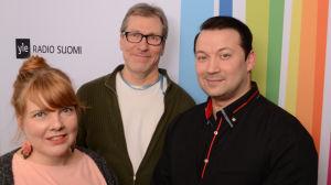 Susanna Vainiola, Jyrki Koskenseppä ja Marco Lundberg Levylautakunnassa