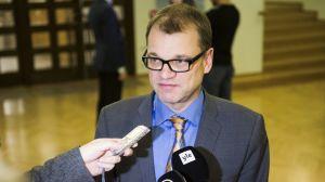 Statsminister Juha Sipilä i riksdagen den 24 november 2015.