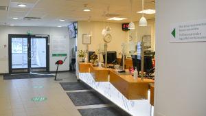 reception i borgå läkarcentral
