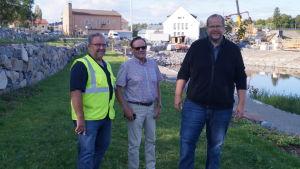 Tony Forsbacka, Bengt Jansson och Tony Eklund i Ljusparken.