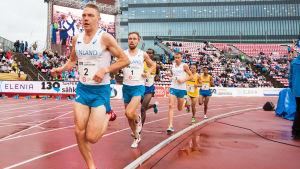 10000 meter för herrar under Sverigekampen i Tammerfors.