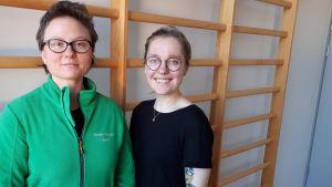 Heidi Bergman och Anna Rosenberg.