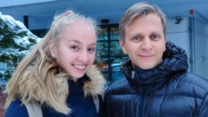 Aurora Kapanen och hennes pappa Marko Kapanen