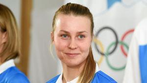 Tuula Tenkanen är ett finskt medaljhopp i OS.