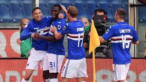Sampdoria firar ett mål.