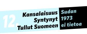 Kansalaisuus: Sudan, syntynyt: 1973, tullut Suomeen: ei tietoa.
