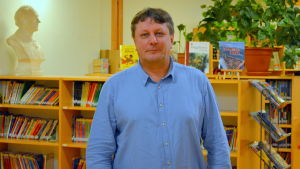 Rektor Fredrik Sundell i Gerby skola