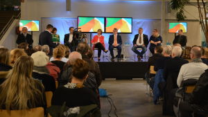 Valdebatt i Rewellcenter i Vasa