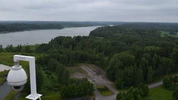 Vy över Fagervien från kolkraftverkets tak.