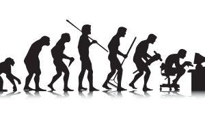 Ihmisen kehon asennon kehitys apinasta tietokonetyöhön