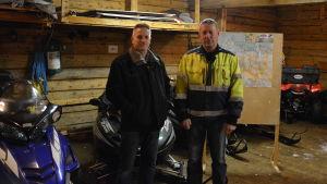 Henrik Bodö och Eirik Österåker från Waasa Snowmobile