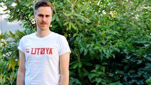 Matias Mäkynen (SDP) besökte Utøya, fyra år efter massakern