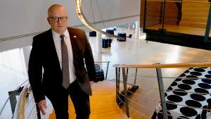 Finlands ambassadör i Washington Mikko Hautala på ambassadörsresidenset i Washington DC.