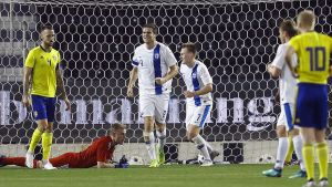 För en vecka sedan gjorde Eero Markkanen segermålet i träningsmatchen mot Sverige.