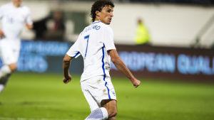 Roman Eremenko spelade för Finland senast i hemmamatchen mot Kosovo.