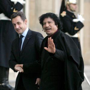 Ghaddafi träffade Sarkozy i Paris i december år 2007
