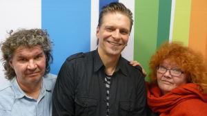 Levylautakunnassa Esa Eloranta, Tero Liete ja Kirsi Väänänen