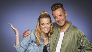Anna-Karin Siegfrids och Jontti Granbacka programledare för MGP 2018