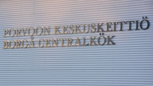 Skylt på Borgå centralkök