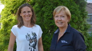 Cecilia Zilliacus och Monika Johnson.