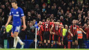 Bournemouth firar mål mot Chelsea.