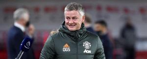 Manchester Uniteds tränare Ole Gunnar Solskjær var på muntert humör efter slutsignalen.