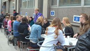 Helsingfors universitet, gatusittning