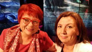 Tarja Cronberg och Emina Arnautovic i Obs debatt
