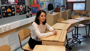 på besök i Mikkolan koulu i Vanda 4.2.2016