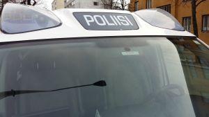 Polisen på plats.