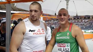 Wojciech Nowicki och Bence Halasz står bredvid varandra.