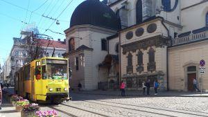 Spårvagn i Lviv.