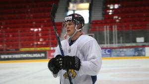 Kasper Björkqvist på Lejonens träningar, april 2018.