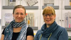 Camilla Snickars Ulrika Vestergård-Denward leder kurs för doulor i Vasa