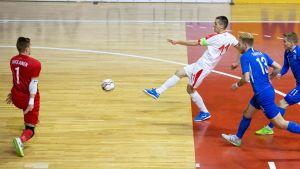 Serbien-Finland i VM-kvalet i futsal.