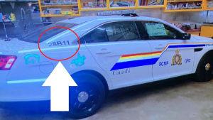 Polisen delade ut den här bilden för att visa allmänheten hur den bil såg ut som gärningsmannen körde under en del av sin vansinnesfärd.