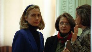 Hillary i Vita huset 1995.