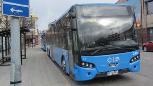 HRT:s buss i Borgå.