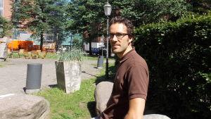Marek Salermo. cyklist och stadsplanerare.