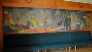 """Väggmålningen """"En berättelse från havets botten"""" av Tove Jansson."""